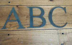 """Metal letters,numbers and symbols plain or rustic antique vintage 6"""""""