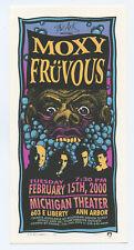 Moxy Fruvous Handbill 2000 Feb 15 Michigan Theater