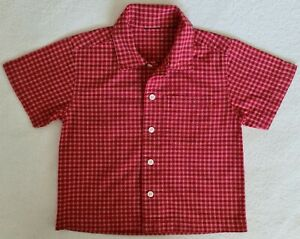 Boys, Checkered Shirt, Size 2-3 yrs, Red, pre-owned/near new
