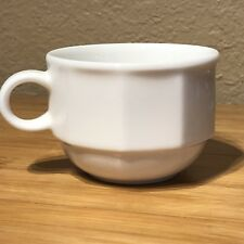 Geo by Villeroy & Boch Luxembourg 1748 White Flat Coffee Tea Cup Porcelain (A10)