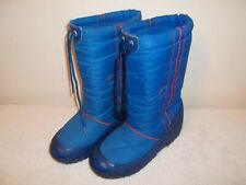 Vintage 1970's Blue Insulated Moon Boots Snow Boots Made In Korea Size 7-8