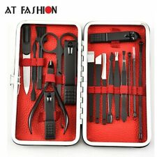 17pcs/set Adult Nail Clipper Set File Nipper Pusher Cutter Beauty Tool with Case