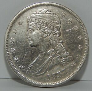1837 - Capped Bust Half Dollar - 50¢ - Silver Coin - Light Pitting on Obverse
