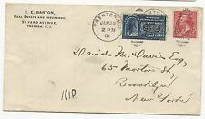 US SPECIAL DELIVERY STAMP COVER Scott #E5 Trenton, NJ Jan 29, 1901