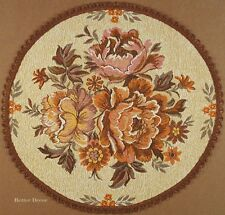 """22"""" DECORATIVE TAPESTRY TABLE RUNNER / PLACE MAT Rose Bouquet EURO FLORAL ACCENT"""