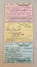 Vintage 1962, 1963, 1964 Arkansas Fishing License lot of 3 resident collectible