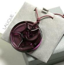 LALIQUE - Authentic Tourbillons Violet Purple Pendant Crystal Necklace NEW BOXED