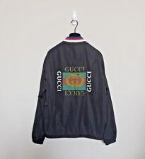 GUCCI Authentic SS18 Black Logo Windbreaker Jacket - Men's Sz 48 / Medium 1300$