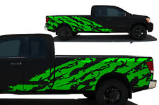 Custom Vinyl Decal Shred Wrap Kit for Nissan Titan Truck 2004-13 Long Bed GREEN