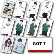 10pcs/set Kpop GOT 7 Collective Photo Card Crystal Card Sticker
