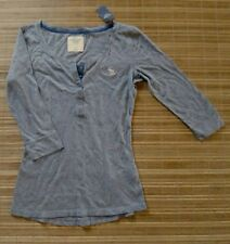 NEWT ..ABERCROMBIE & FITCH.. Womans Shirt ... Size S Gray