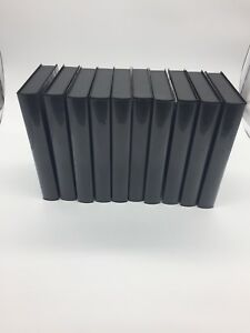 Lot of 10 NEW Black VHS Tape Storage Cases Empty Clamshell Full Sleeve No Hub