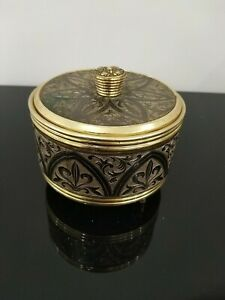 Vintage Japanese musical powder compact with mirror & sifter