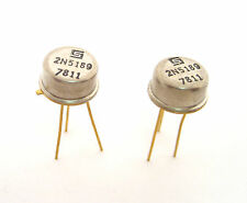 2N5189 NPN Transistors: Amp/Sw: Great for QRP: Vintage 70's: Gold Leads: 2/Lot