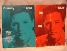Two Paperback Songbooks of Elvis Presley Hits 33 pg 36 pg Large Poster