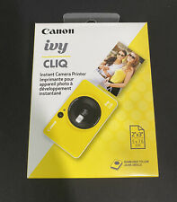 Brand New Canon IVY CLIQ Instant Camera & Portable Printer (Bumblebee Yellow)
