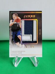 2020-21 Noir Jumbo Material Prime SSP /10 #12 Steve Nash Dallas Mavericks R6220J