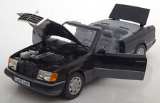 Norev 1990 Mercedes Benz 300 CE-24 Convertible Black with Soft Top 1/18 New!