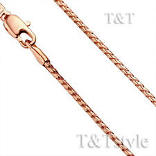 T&T 1.5mm 9K Rose Gold Filled Chain Necklace (CF100)