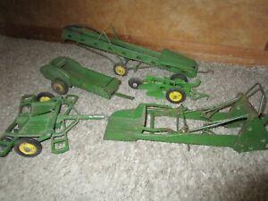 John Deere Farm Toy Eska Carter Elevator Manure Loader Spreader Disk Plow Used