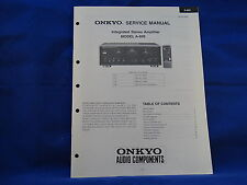 Onkyo A-809 Amplifier Service Manual