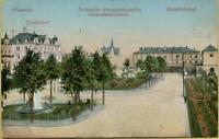 2340: Ansichtskarte Postkarte Chemnitz Carolahotel Akademie Hauptbahnhof 1911
