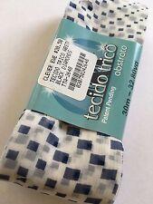 Circulo Tecido Trico Abstrato #2648 Blue Diamonds - Chiffon Fabric Ruffle Yarn