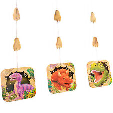 Creative Converting Bb021846 Dinosaur Adventure Dangling Cutout 3-pack