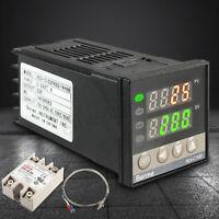 100-240V Digital PID Temperature Controller+40A SSR+K Thermocouple Probe Sensor