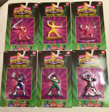"Set of six (6) Mighty Morphin Power Rangers, 3""  Figure 1993 Bandai America"