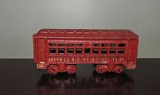 REPRODUCTION CAST IRON RED ST. LOUIS & OHIO RIVER PASSENGER TRAIN CAR