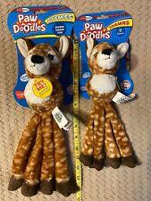 Jakks Pacific - Paw Doodles Squeakies - Deer - Dog Toy with squeakers & ball
