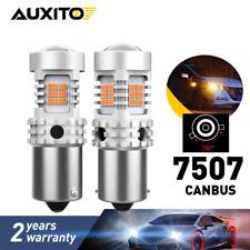 2Pcs Amber 1156PY BAU15S PY21W LED Car Tail Turn Brake Reverse Bulbs auxito eod