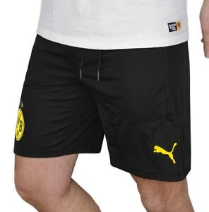 Puma BVB 09 Shorts Herren Fußball Hose Sport Laufhose kurz schwarz/gelb [S-3XL]