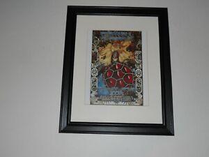 """Framed Grateful Dead 1995 Last Summer Tour Handbill Print Jerry Garcia 14"""" x 17"""""""