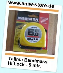 Tajima Bandmass HI-Lock 5 mtr. H9P50MY  19mm Stahlmass Taschenbandma