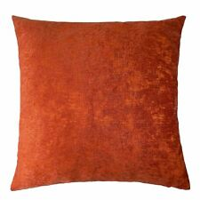 "2 X CHENILLE TWO TONE ORANGE 20"" 50CM CUSHION COVERS"