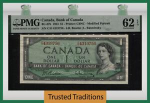 TT PK BC-37b 1954 CANADA BANK $1 QUEEN ELIZABETH II PMG 62 EPQ UNCIRCULATED!