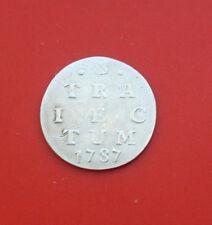 Niederlande: 2 Stuiver Silber 1787, Provinz Utrecht (Traiectum), #F 2110, VZ-XF