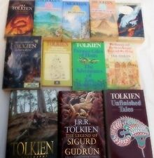 J.R.R. TOLKIEN - 10 VOLUMES OF HIS BESTSELLERS + BIOGRAPHY and COMPANION VOLUME
