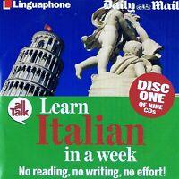 Learn Italian In A Week Discs 1 - 9 - Audio CD N/Paper 9 Disc Set