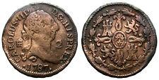 CARLOS III, 2 MARAVEDIS. 1787. SEGOVIA.