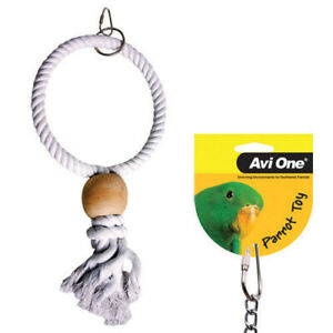 Avi One Rope Swing Hanging Fun Chew Budgie Finch Canary Conure Parrot Toy