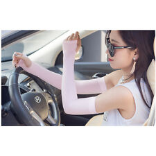 Anti-Uv Cuff Sunscreen Glove Cuff ,Sun Protective Arm Cooling Sleeves - Pink