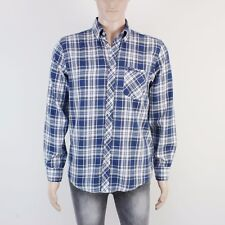 Ben Sherman Mens Size M Blue Check Long Sleeve Shirt