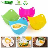 4pcs Silicone Egg Cooking Mould Poacher Poached Egg Maker For Kitchen Microwave