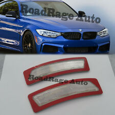 For 14-Up BMW F32 F33 F36 4-Series CLEAR Bumper Reflector Side Marker Light Lamp