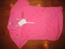 POC Trail Light Zip Tee Womens Short Sleeve Trail  Jersey Medium - New- Pink