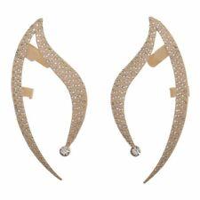 STAR TREK SPOCK VULCAN EAR CUFF METALLIC GOLD EARRINGS SET RHINESTONE COSPLAY