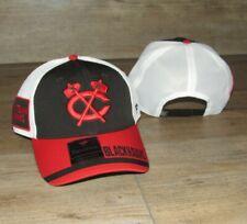 Chicago Blackhawks Fanatics Crossed Tomahawks Mesh Snapback Hat Cap size Men's